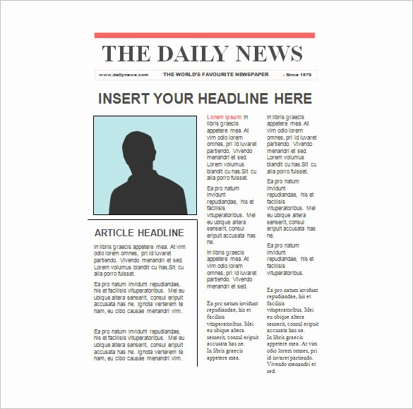 Free Newspaper Article Template Best Of 22 Paper Templates & Samples Doc Pdf Excel