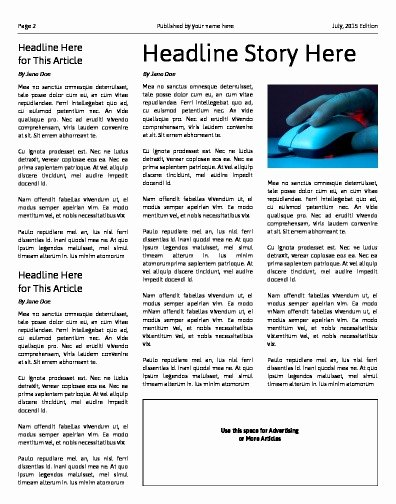 Free Newspaper Article Template Best Of Free Newspaper Templates Print and Digital