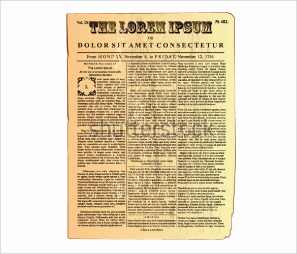 Free Newspaper Article Template Fresh 20 Old Newspaper Templates Psd Jpg