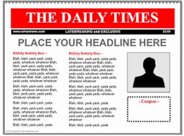 Free Newspaper Article Template Lovely 9 Newspaper Templates Word Excel Pdf formats