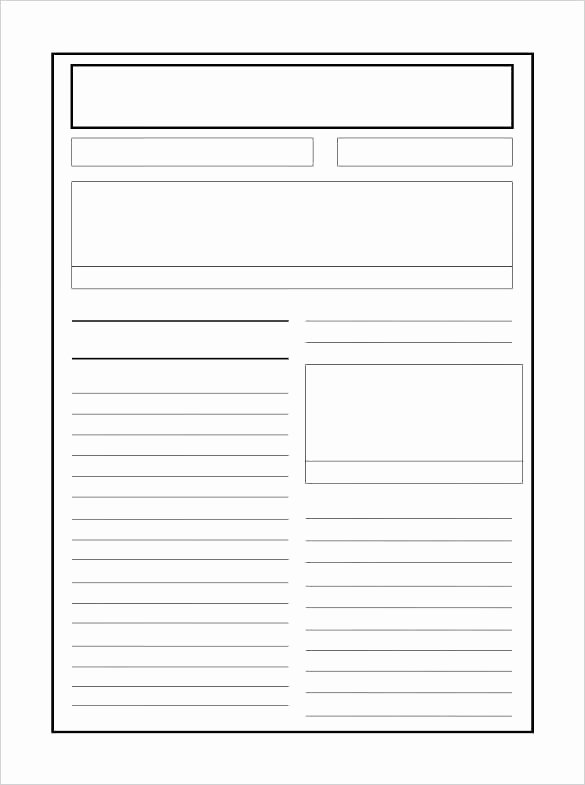 Free Newspaper Article Template Lovely Free Blank Newspaper Sample Template for Kids Printable