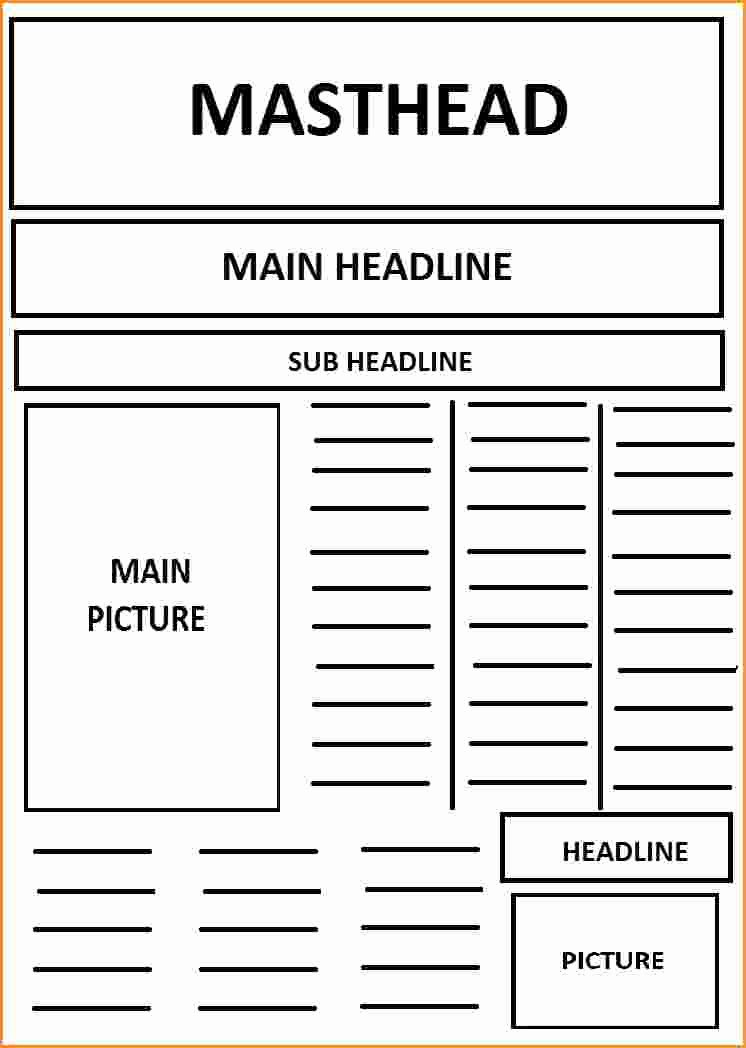 Free Newspaper Article Template Luxury 9 Front Page Newspaper Article Template
