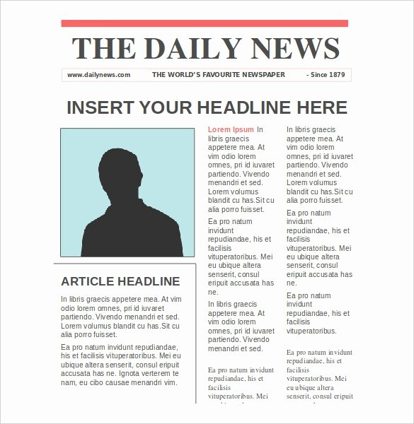 Free Newspaper Article Template New Newspaper Article Template