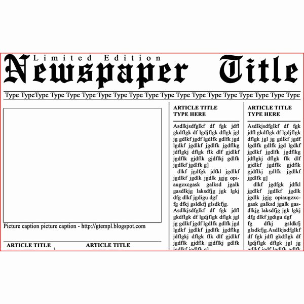 Free Newspaper Article Template New Newspaper Layout Templates Excellent sources to Help You