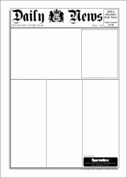 Free Newspaper Template for Students Awesome 9 Newspaper Templates Word Excel Pdf formats