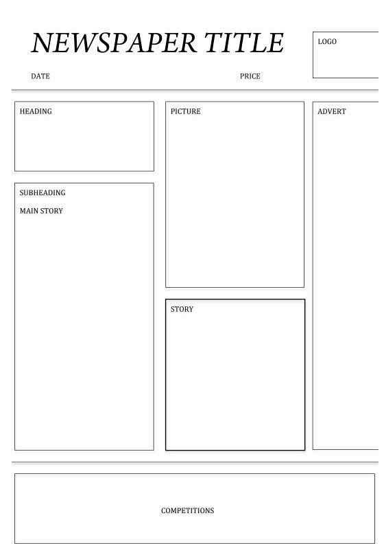 Free Newspaper Template for Students Awesome Free Newspaper Template