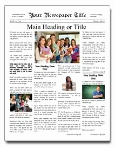 Free Newspaper Template for Students Beautiful 9 Newspaper Templates Word Excel Pdf formats