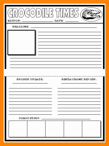 Free Newspaper Template for Students Best Of 8 Free Printable Newspaper Template for Students