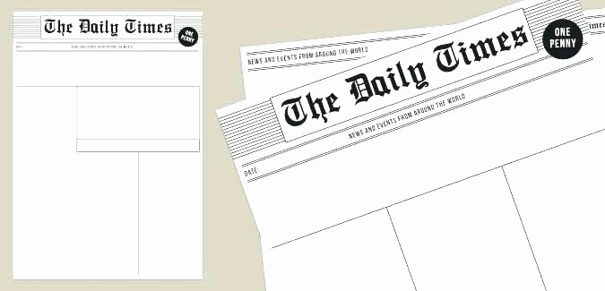 Free Newspaper Template for Students Fresh Free Newspaper Article Template for Students Blank