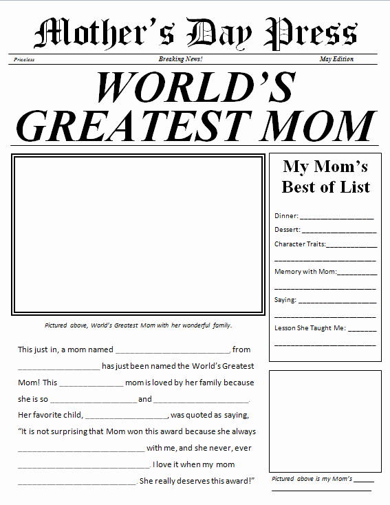 Free Newspaper Template for Students Fresh Newspaper Template for Kids