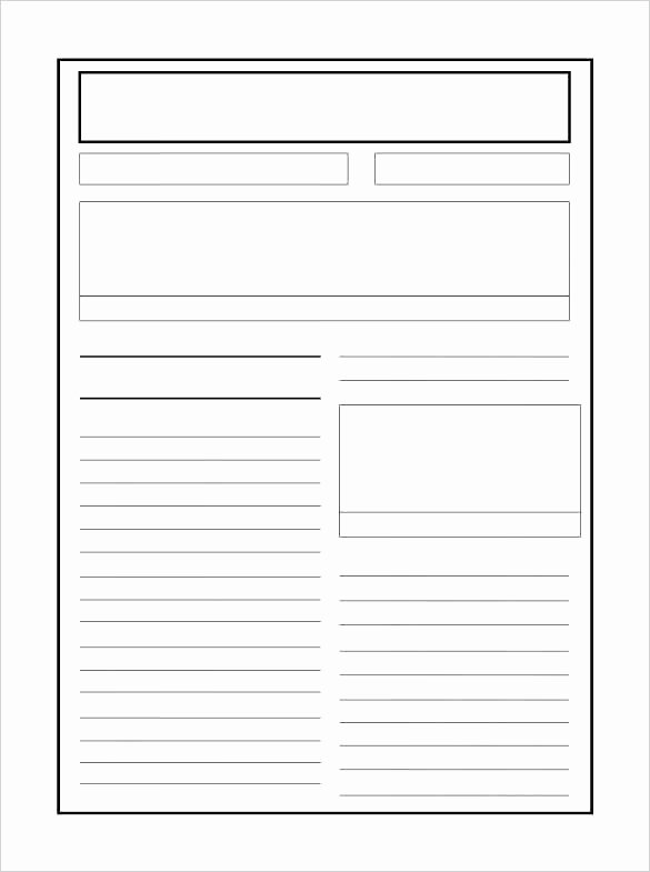 Free Newspaper Template for Students Inspirational Free Newspaper Article Template for Students Blank