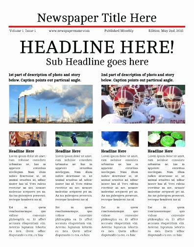 Free Newspaper Template for Students Inspirational News Report Template for Students 8 Newspaper Templates