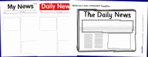 Free Newspaper Template for Students Inspirational Printable Newspaper Templates From Sparklebox