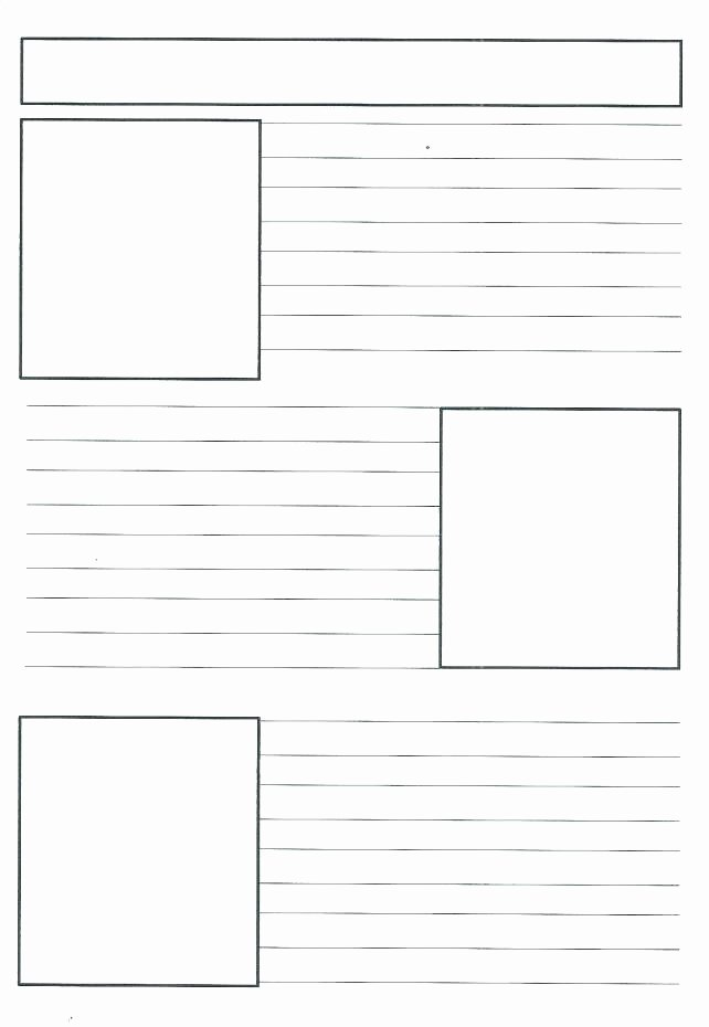 Free Newspaper Template for Students Lovely Free Newspaper Template for Kids Best Printable