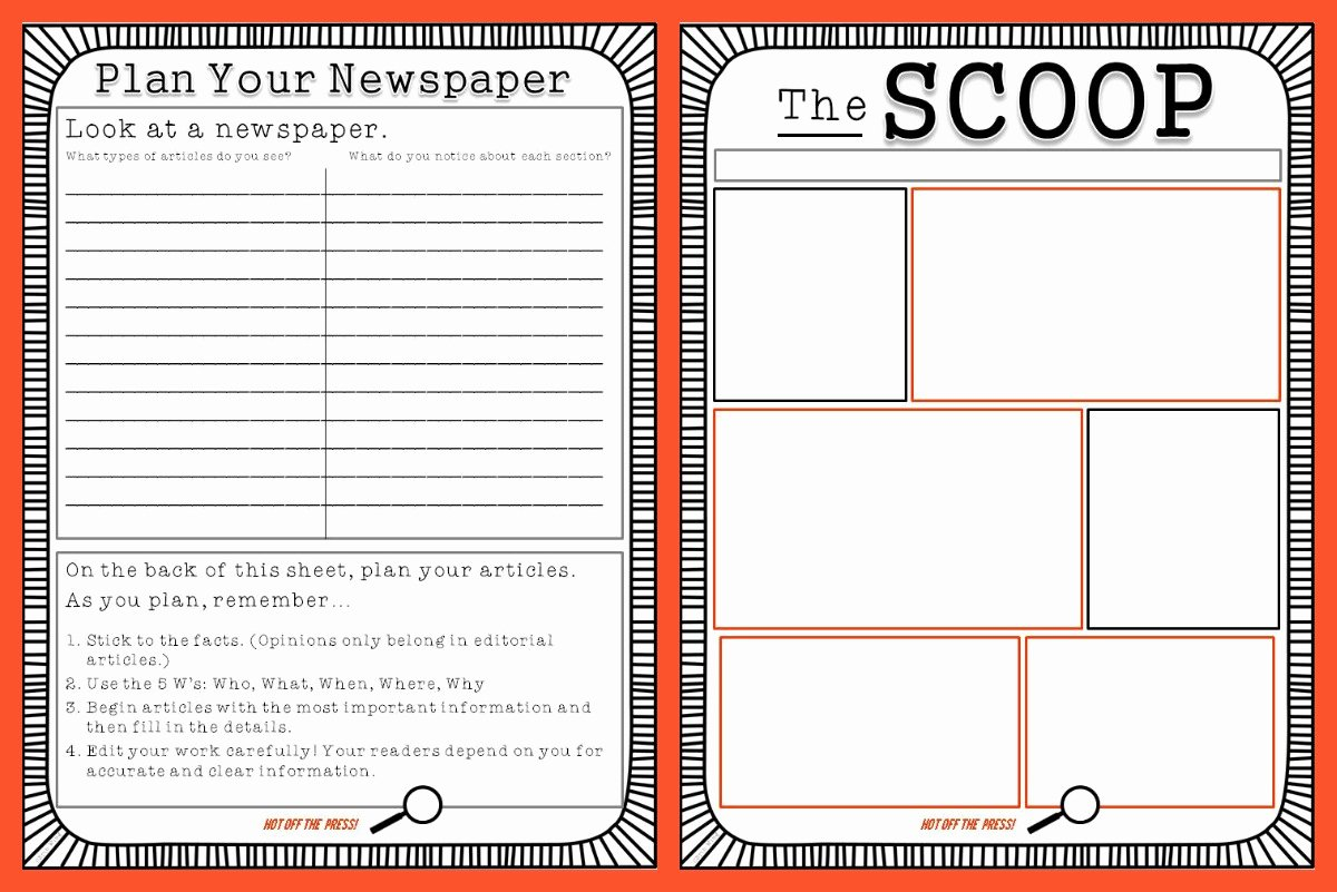 Free Newspaper Template for Students Lovely Free Newspaper Template