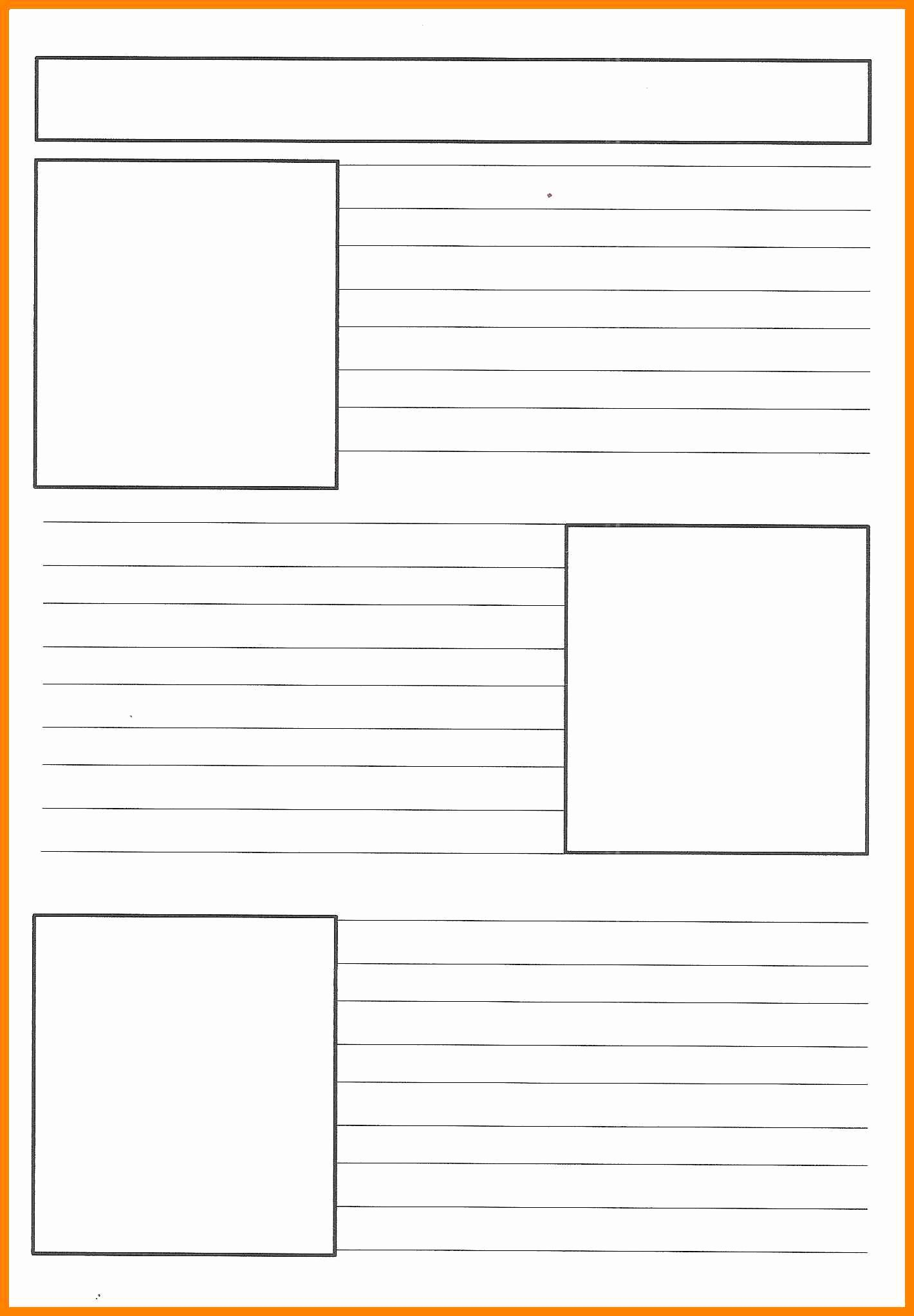 Free Newspaper Template for Students New 8 Free Printable Newspaper Template for Students
