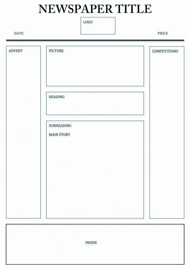 Free Newspaper Template for Students New Free Newspaper Template for Kids Best Printable