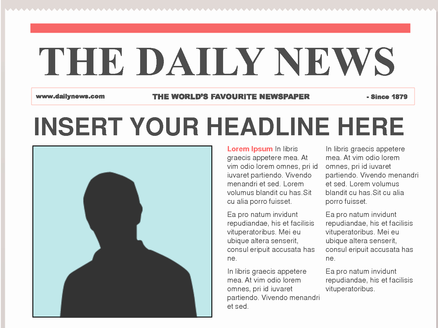 Free Newspaper Template for Students New Free Newspaper Template
