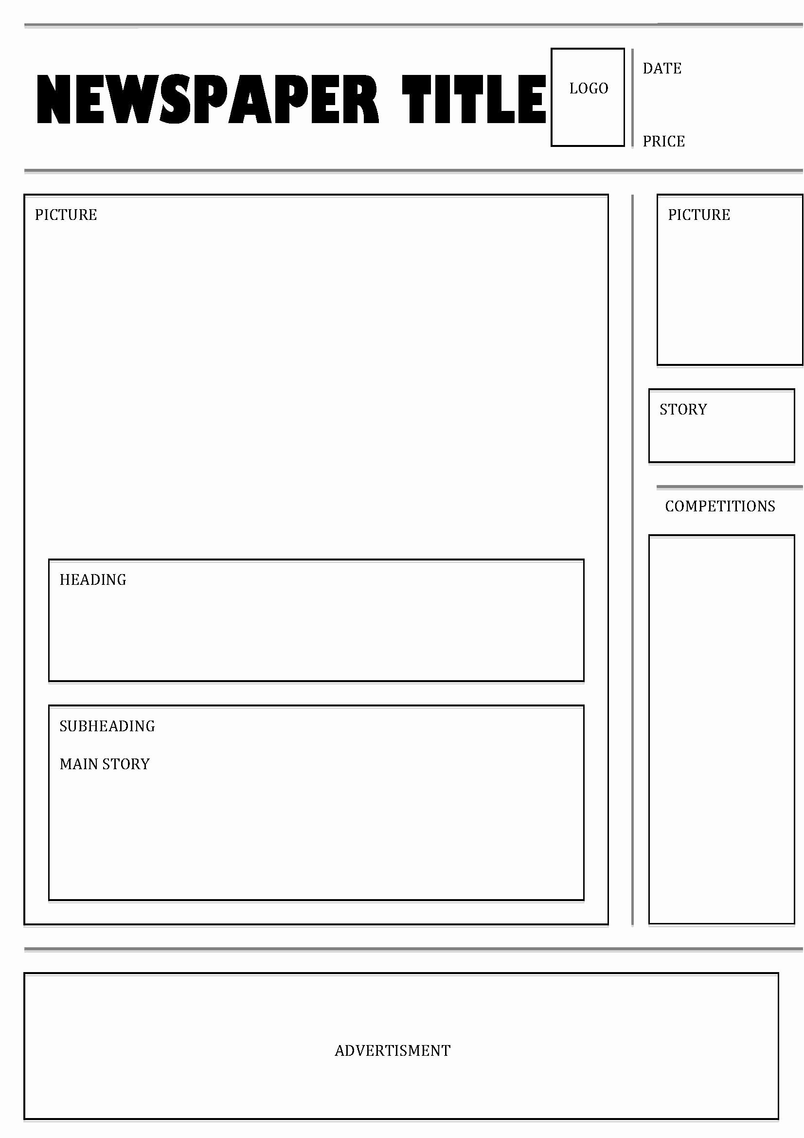 Free Newspaper Template for Students New Kate S Blog Just Another Wordpress Site