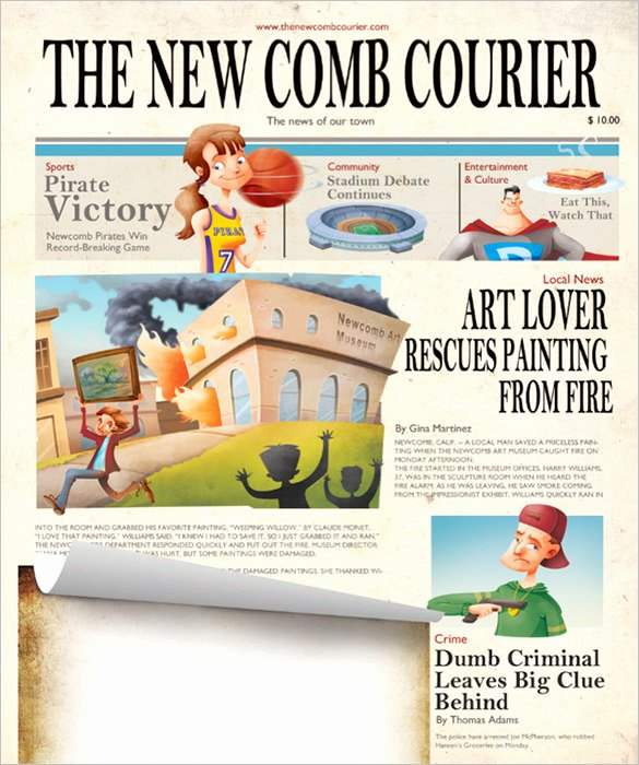Free Newspaper Template for Students New Kids Newspaper Template – 11 Free Psd Indesign Eps