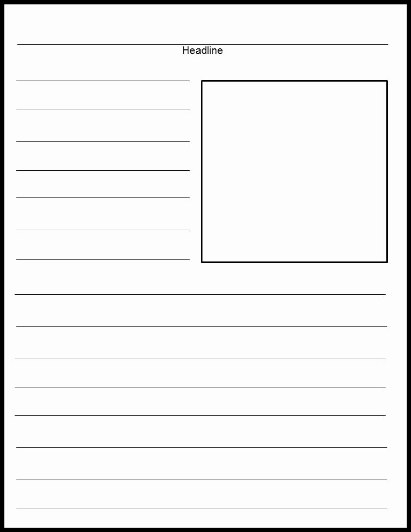 Free Newspaper Template for Students Unique Blank Newspaper Template 2018