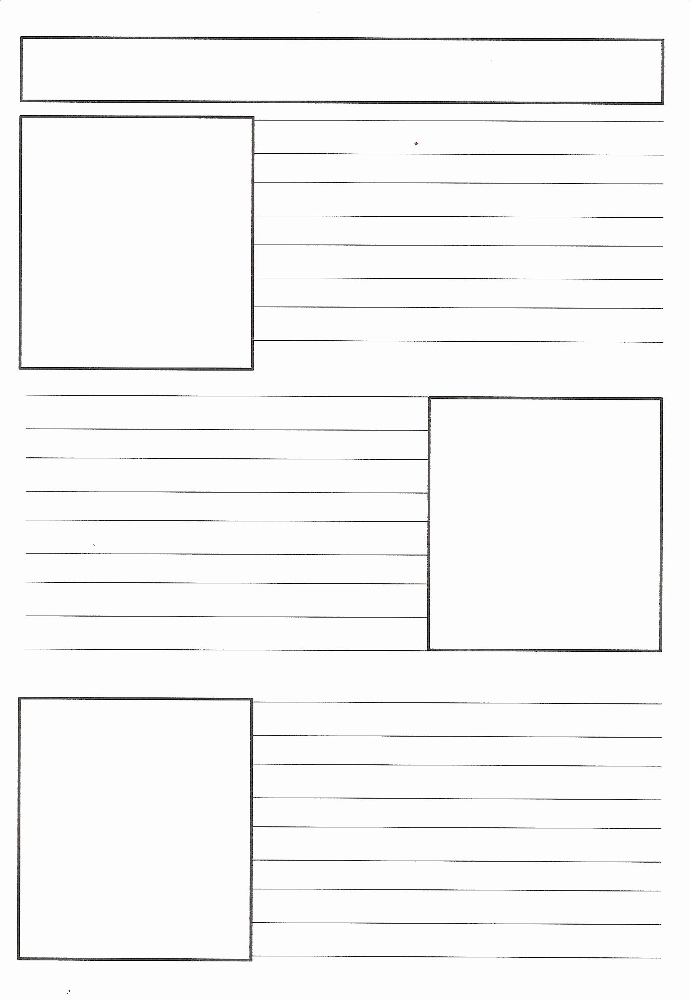Free Newspaper Template for Students Unique Blank Newspaper Template