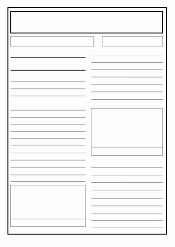 Free Newspaper Template for Students Unique Great Fire Of London Newspaper Report Writing by