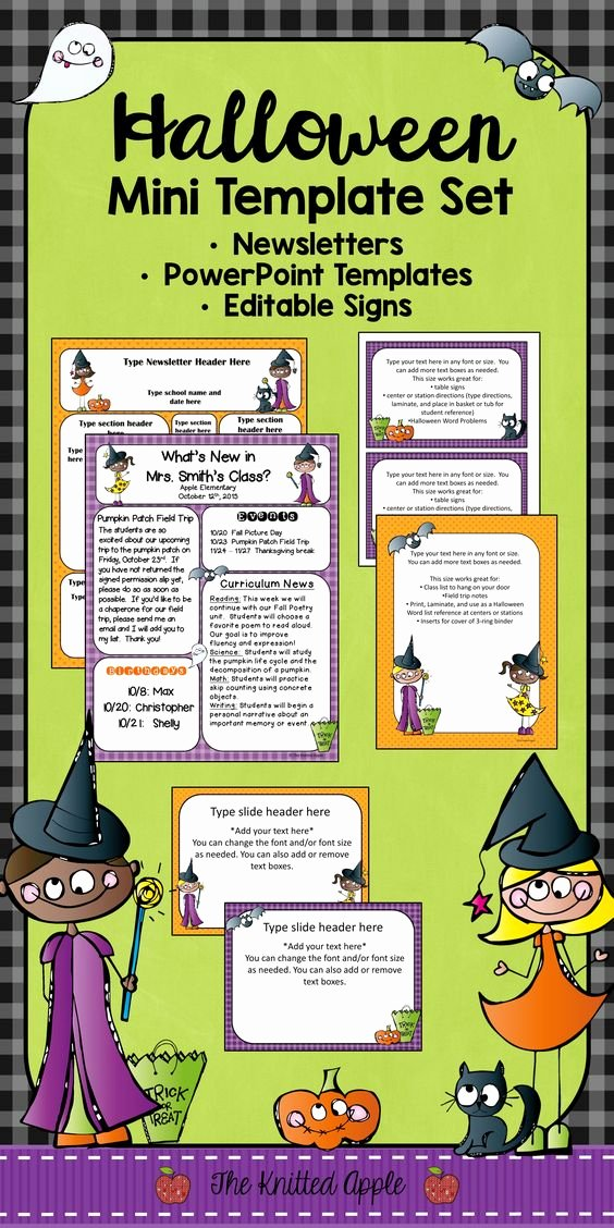 Free October Newsletter Template Best Of Newsletter Templates Halloween Fun and Signs On Pinterest