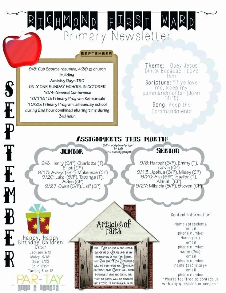 Free October Newsletter Template Best Of October Newsletter Template for Preschool Templates Free