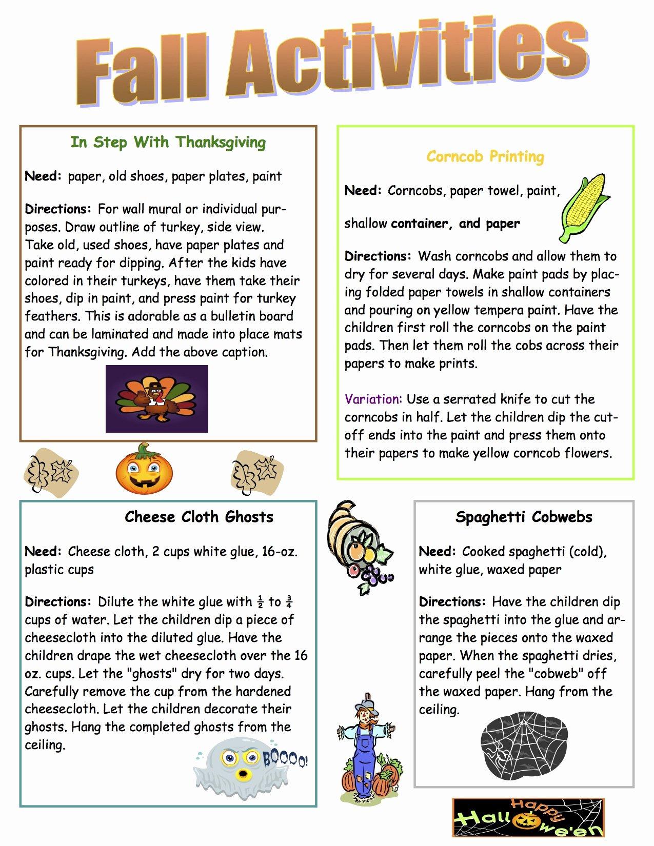 Free October Newsletter Template Elegant 18 Of October Day Care Monthly Newsletter Template