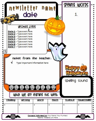Free October Newsletter Template Elegant 64 Best Images About Education Ideas On Pinterest