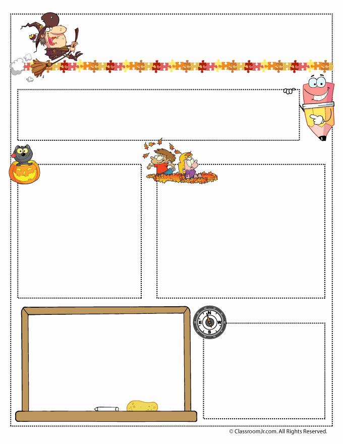 Free October Newsletter Template Elegant October Teacher Newsletter Template