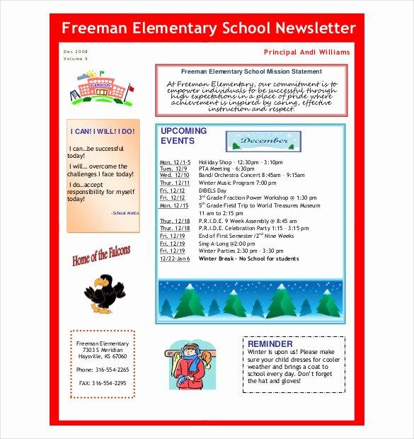 Free October Newsletter Template Fresh 7 Preschool Newsletter Templates Pdf Doc