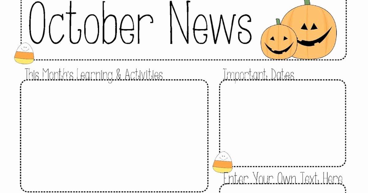 Free October Newsletter Template Fresh October Newsletter Template