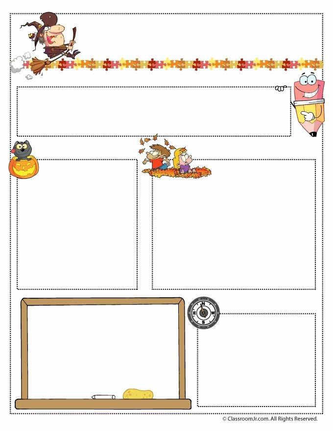 Free October Newsletter Template Fresh Teacher Newsletter Templates October Teacher Newsletter T