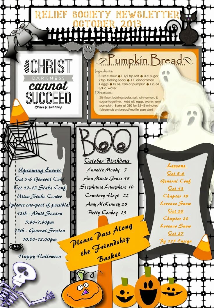 Free October Newsletter Template Luxury 25 Best Ideas About Monthly Newsletter Template On