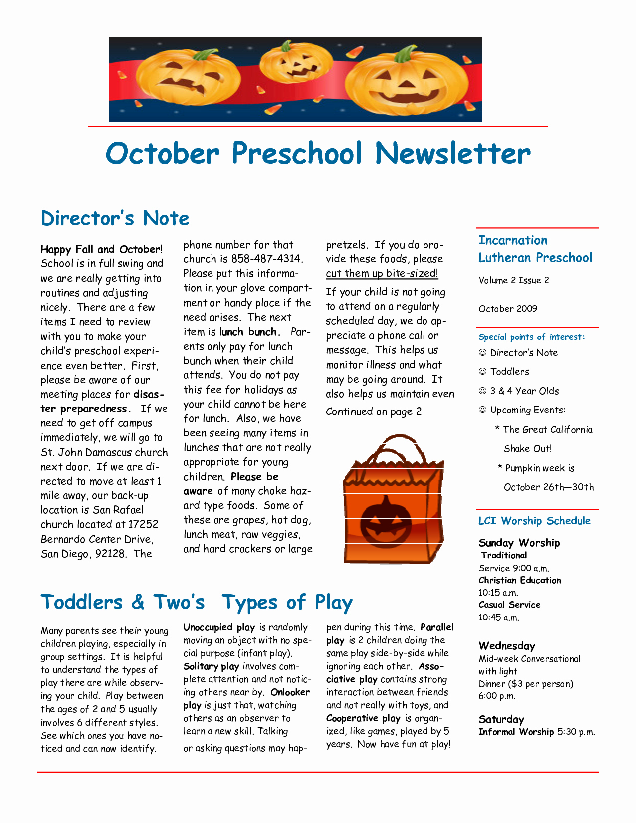 Free October Newsletter Template New 6 Best Of October Preschool Newsletter Ideas