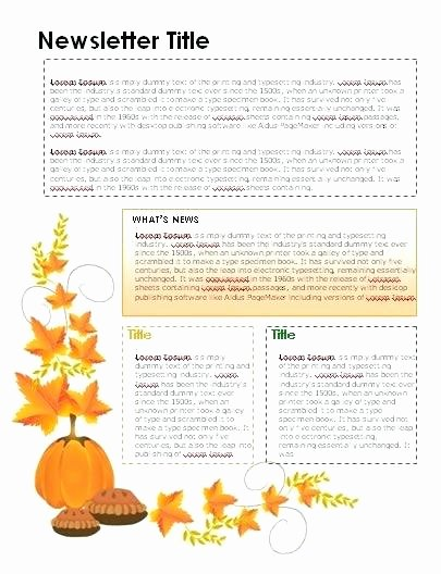 Free October Newsletter Template Unique Kindergarten Monthly Newsletters Store Newsletter
