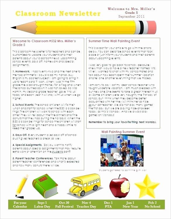 Free October Newsletter Template Unique Spring Preschool Newsletter Template the Crafty Teacher