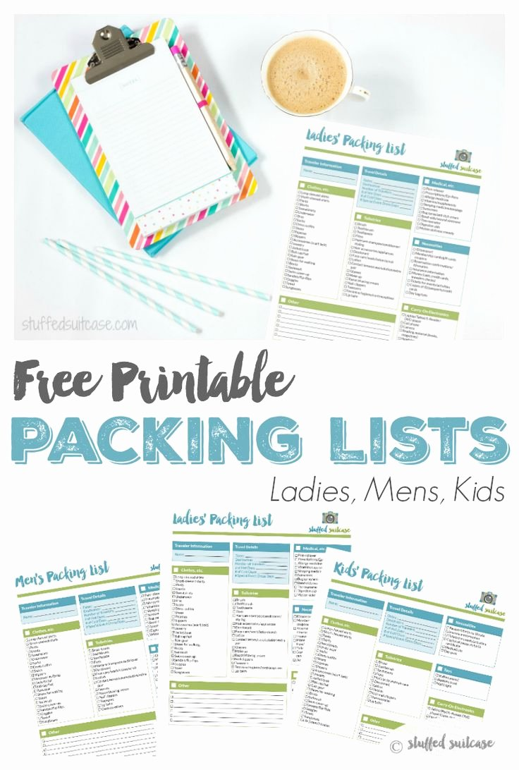 Free Packing List Template Elegant Best 25 Packing List Template Ideas On Pinterest