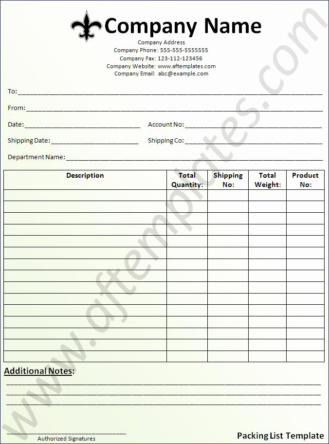 Free Packing List Template Fresh Packing List Template