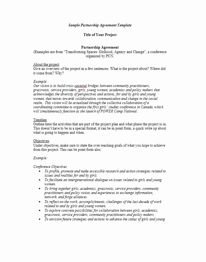 Free Partnership Agreement Template Word Beautiful 40 Free Partnership Agreement Templates Business General