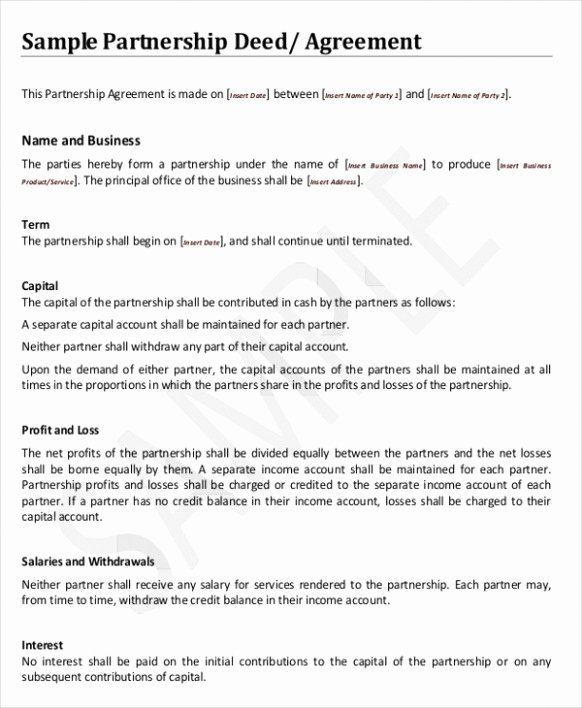 Free Partnership Agreement Template Word Luxury Salaried Partnership Agreement Template Ghostclothingco