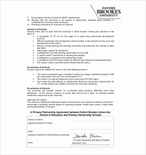 Free Partnership Agreement Template Word New Partnership Agreement Template 11 Free Word Pdf