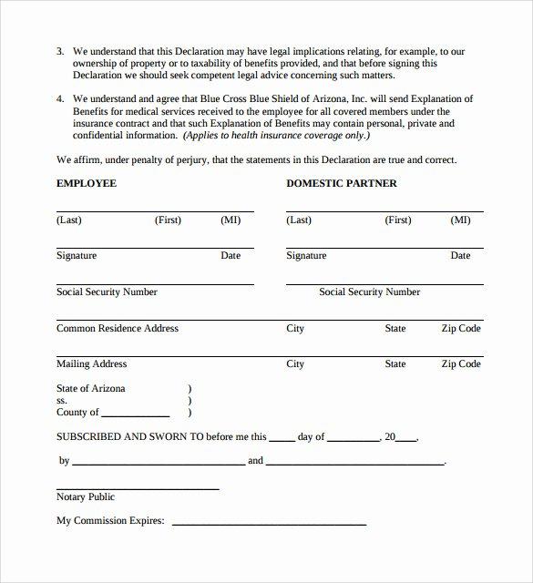 Free Partnership Agreement Template Word Unique Domestic Partnership Agreement 11 Download Free