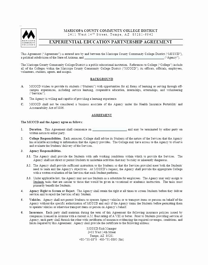 Free Partnership Agreement Template Word Unique Real Estate Partnership Agreement Template Best Blank