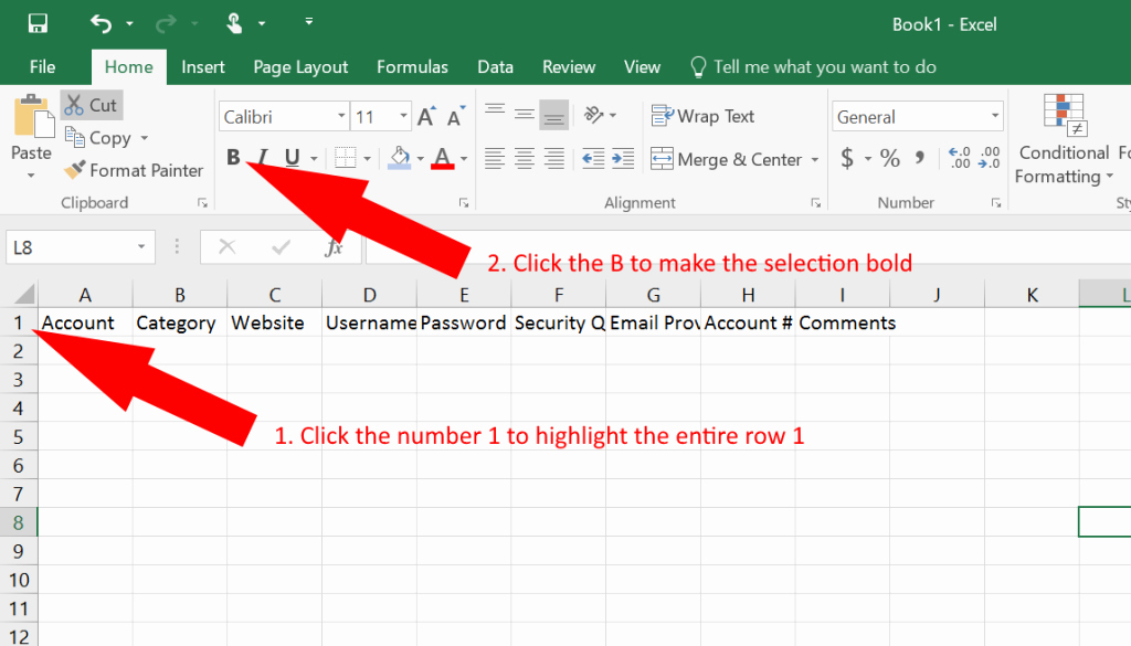 Free Password Spreadsheet Template Awesome How to Use Excel as A Password Keeper Free Template