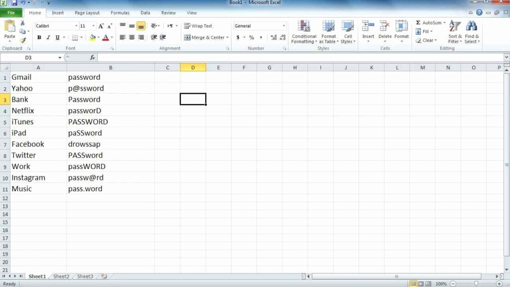 Free Password Spreadsheet Template Awesome Password Spreadsheet Microsoft Spreadsheet Template