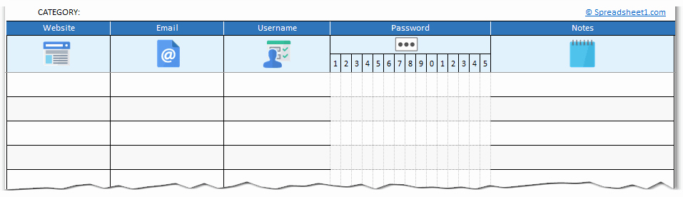 Free Password Spreadsheet Template Luxury Free Printable Password Log Excel Template