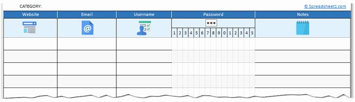 Free Password Spreadsheet Template New Free Printable Password Log Excel Template